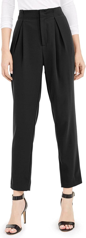 bar III Womens High-Rise Pleated Dress Pants
