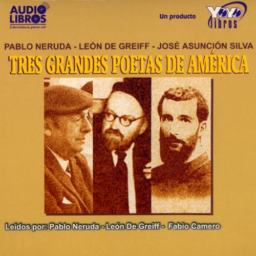 Tres Grandes Poetas de America (Texto Completo) [Three Great Poets of America ] audiobook cover art
