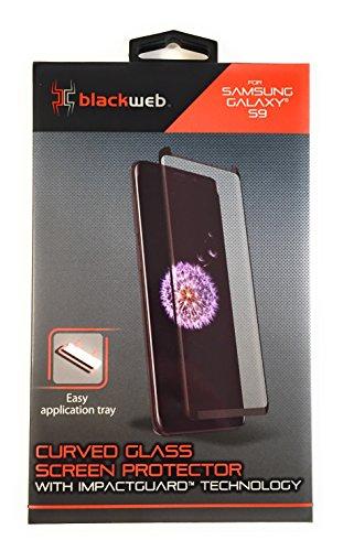 Blackweb New Samsung Galaxy S9 Glass Screen Protector With Impactguard Technology