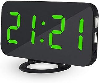 Reloj despertador digital para mesilla a corriente teepao