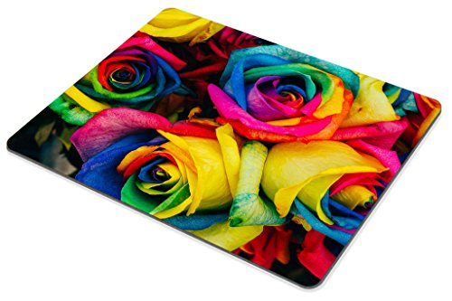 Smooffly Rose Mouse Pad,Colorful Rose Petals Rainbow Rose Petals Customized Rectangle Non-Slip Rubber Mousepad Gaming Mouse Pad Photo #5