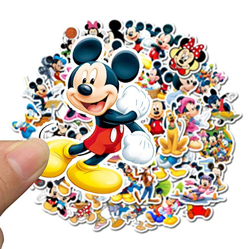 Qemsele Stickers for Children, 100 Pcs Teens Kids Sticker Pack Sheets for Toddlers, Superhero Cartoon Graffiti Stickers for Laptop Bottles Skateboard Luggage Party Bag Fillers (Mickey)