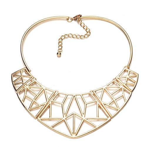 Onnea Gold Tone Ausschnitt Geo Choker Halskette für Frauen