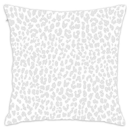 Funda de Almohada de Leopardo Gris pálido Funda de Almohada Decorativa Funda de cojín Cuadrada Funda de Almohada para sofá