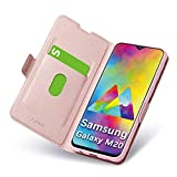 Aunote Samsung Galaxy M20 Flip Case, Leather Wallet Case