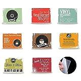 8 Estante de Discos de Vinilo de Acrílico Estante Soporte de Discos Montaje en Pared Marco de Almacenamiento para Exhibición Colección y Decoración de Discos de Escucha