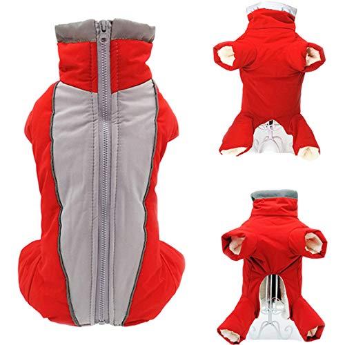 ARONTIME Ropa de perro para perros pequeños forro polar abrigo y protector de pecho chaqueta de invierno chaleco impermeable cálido (niño, L 14)