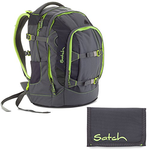 Satch Pack by Ergobag Phantom 2er Set Schulrucksack + Geldbeutel