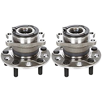 AutoShack HB612335PR Pair of 2 Wheel Bearing Hub Rear Driver and Passenger Side Wheel Hub Bearing and Assembly 5 Lugs with ABS Replacement for 2007 2008 Dodge Caliber 2007-2017 Jeep Compass Patriot
