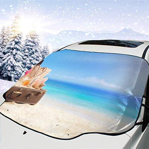 JONINOT Visera de sombrilla automática para Parabrisas Delantero Impermeable Maleta de Accesorios de Playa en Concepto de Viaje Protector protección contra heladas Invierno vehículos