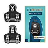 Alphatrail Look Keo Carretera Cleats Alfred I 0° Float I Puntos de Contacto Antideslizantes I Incl. el Kit de Montaje I Compatible con los Pedales de Clic i.a. Look Keo