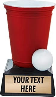 Beer Pong Trophy, Beer Pong Trophies, Beer Pong Award, Beer Pong Awards with Customized Text Prime