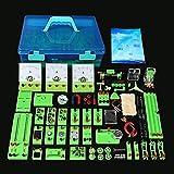 Wghz Kit Circuito di apprendimento del Laboratorio di scienze fisiche, Set di esperimenti sull'elettricità, circuiti di costruzione per Bambini studenti Delle scuole medie superiori