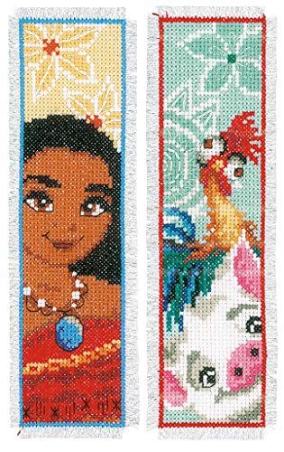Vervaco WD Lesezeichen Reisende Aida 2er Set Kreuzstichpackung, Weiß, 6 x 20 x 0,3 cm