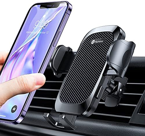 Phone Mount for Car Air Vent [Military-Grade Stability & Anti-Drop] Humixx Universal Stand Hands Free Phone Holder Air Vent Car Phone Mount Clip Cradle Compatible with iPhone Samsung Huawei Pixel