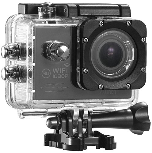 dOvOb SJ4000 Plus Waterproof Sport Action Camera (1080P/30fps 14MP 170 Degree Wide Angle) with Accessories Kits - As Gift