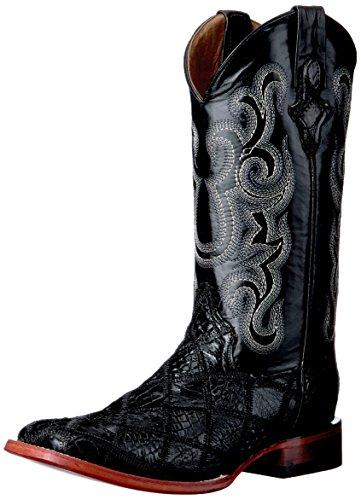Ferrini Men's Patchwork GTR/ost S-Toe Western Boot, Black, 12 D US
