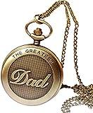 YOUZYHG co.,ltd Taschenuhr Taschenuhr Männer Vintage Bronze der größte Papa Designkette Anhänger...