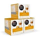 NESCAFÉ Dolce Gusto Café Latte Macchiato, Pack de 3x16 Cápsulas - Total: 48 Cápsulas de Café