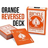 Magic Makers Orange Reversed Deck Bicycle Playing Cards - Includes...