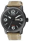 Citizen BM8476-23EE - Reloj analógico de Cuarzo para Hombre, Correa de Nailon Color Crema