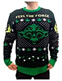 Maglione Natalizio Unisex Star Wars Uomo e Donna Yoda Jedi Feel The Force Sweater Small