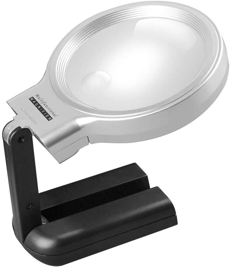 L-Ying 3X 4.5X Rapid rise Handheld Illumination HD Light Magnifier with Quantity limited LED