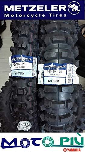 Par de neumáticos Cross homologados Metzeler MC360 90/90-21 140/80-18 DOT 2018