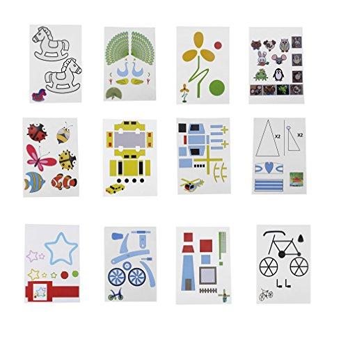 fellibay 3D Drucker Zeichnung Papier, und Papier Formen für 3D Zeichnen Papier Modelle Doodle Modellbau Arts Crafts Zeichnen 40Stück - 8
