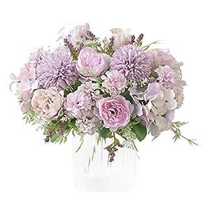 HNFSBOX Artificial Flowers, Fake Peony Silk Hydrangea Bouquet Decor Plastic Realistic Flower Wedding Decoration