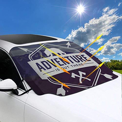 ngwanxinqu Abenteuer ist da draußen Bär Beile Windschutzscheibe Schneedecke Eisentfernung Wischer Visier Beschützer Winter Sommer Auto Sonnenschutz für Autos LKW Vans SUVs