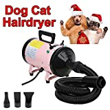 Low Noise Pet Dog Cat Professional Grooming Hair Dryer Low Noise 2800W Hairdryer Blaster Coat Fur Blower 2 Gear Temperature and 2.5M Flexible Hose UK Standard Plug, Fast Delivery