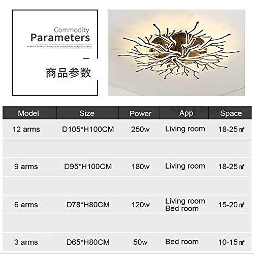 AI LI WEI Mooie lampen Modern 9 teste slaapkamer plafondlamp met LED-verlichting acryl voor gebruik binnenshuis, 3 testlampen 3 lampen