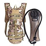 Unigear Tactical Hydration Pack Backpack 900D with 2.5L Bladder for Hiking, Biking, Running, Walking and Climbing (Cp)