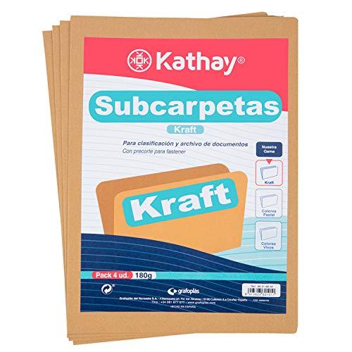 Subcarpetas A4 180G Marca Kathay