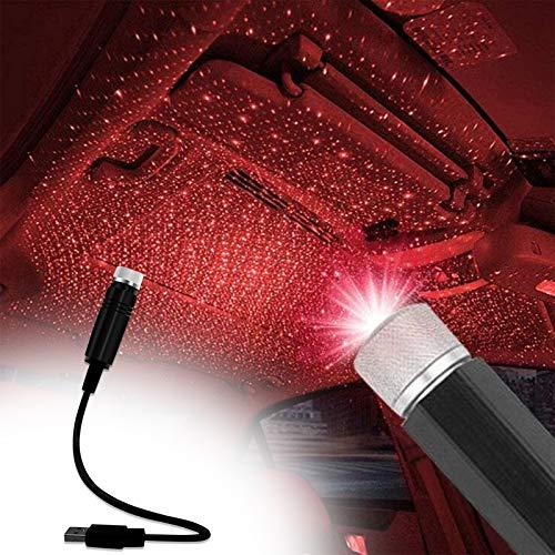 USB Car Star Projektor Nachtlicht LED Innenleuchte,Sayla einstellbare Muster romantische Dekoration Streifen Atmosphäre Umgebungslicht, Plug and Play Auto Dach Stern Lichter für Schlafzimmer