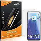 SWIDO Schutzfolie für Xiaomi Mi 10T 5G [2 Stück] Anti-Reflex MATT Entspiegelnd, Hoher Festigkeitgrad, Schutz vor Kratzer/Folie, Bildschirmschutz, Bildschirmschutzfolie, Panzerglas-Folie