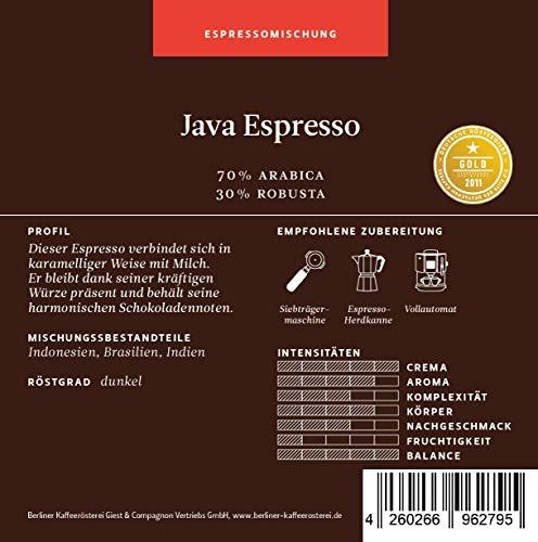 BKR | Espresso | Java Espresso | Mischung 1000g Bohne