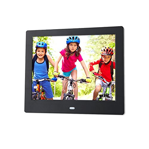 𝐂𝐡𝐫𝐢𝐬𝐭𝐦𝐚𝐬 𝐆𝐢𝐟𝐭 Wandisy 8-Inch Digital Photo Frame - Digital Picture Frame with 1024x768 XGA IPS Display, Photo Auto-Rotate, Alarm Clock Music Movie Player with Remote Control(Black) Digital Frames Picture