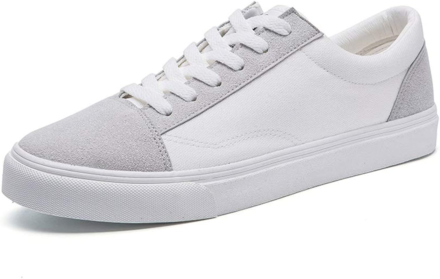 Ailj Spring Men's Street White shoes, Canvas Upper Korean Version of Breathable Low-top Casual shoes Classic Low-top Sneakers