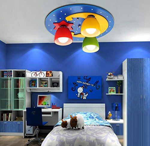 Lily's-uk Love LED Enfants Chambre Chambre plafonnier Creative ronde lumière de la lune éclairage Boy Girl Room Lights