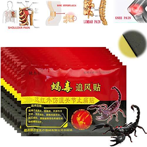 80 Stück / 10 Beutel HELLOYOUNG Kniegelenk-Entlastungspflaster Chinesisches Skorpion-Extrakt-Pflaster für rheumatoide Entlastungssalben