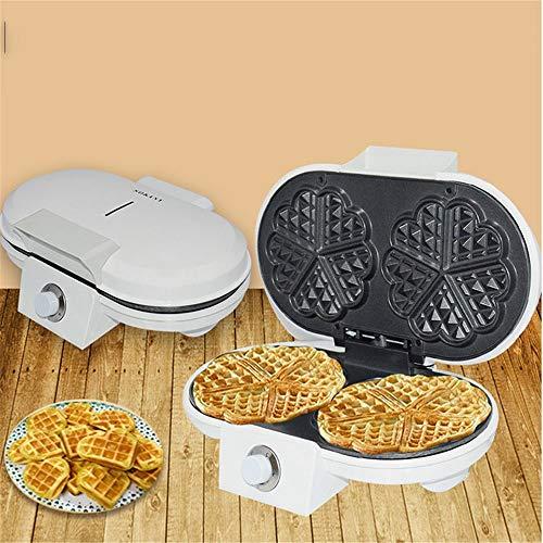 Máquina para cupcakes y magdalenas 1200W Electric Waffle Maker: la máquina for hacer waffles casera hace 5 habitaciones dobles Waffles en forma de corazón para niños desayuno bricolaje