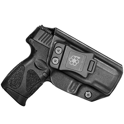 Taurus G2C IWB Holster, Amberide IWB KYDEX Holster Fit: Taurus G2C & Millennium G2 PT111 / PT140 Pistol   Inside Waistband   Adjustable Cant   US KYDEX Made (Black, Right Hand Draw (IWB))