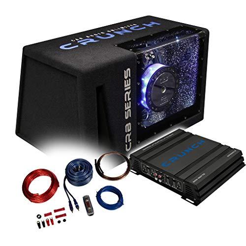 Crunch Basspaket 2-Kanal Endstufe/Verstärker+30cm Subwoofer+Kabel-Set - 500 Watt/CRB-501 + GPX-500.2 + REN10KIT