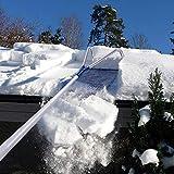 15 cm WHYTT Dachschneer/äumer Einfach zu bedienendes Schneer/äumwerkzeug auf dem Dach Schneeb/ürste Aluminiumkonstruktion Einstellbarer Teleskopgriff Schneeschaufel Kopfgr/ö/ße 63 cm