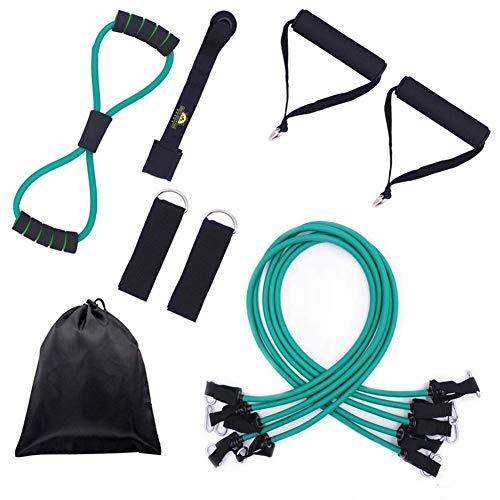 ZEH 125-175 LB Heavy Duty-Widerstand-Band-Satz, elastischer Gummi Latex-Schlauch mit Tür-Anker-Schaum Griff-Kasten-Expandern und Knöchelriemen FACAI (Color : Set 1)