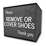 RE Goods Shoe Cover Box | Disposable Shoe Bootie Holder For Realtor Listings and Open Houses | Please Remove Or Cover Shoes Bin | Shoe Bootie Box