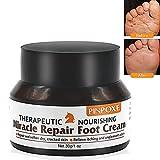 PINPOXE - Crema para el cuidado de los pies, bálsamo para pies, saltos secos de piel, crema para pies, curativa y previene infecciones fúngicas, sudor y olores, 30 g, color blanco