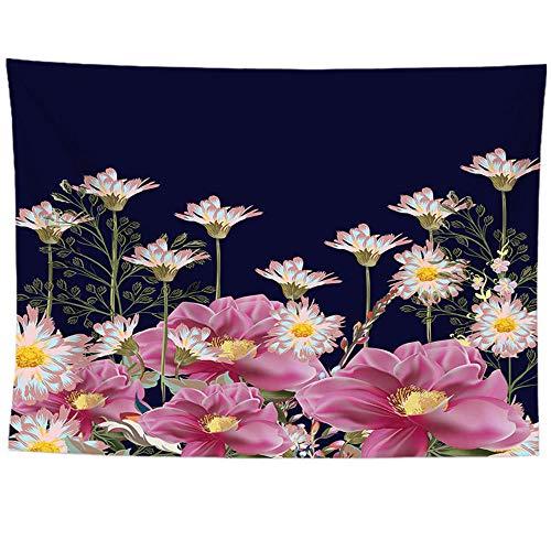 Youtian Grote wandtapijt voor planten- en bloemenlandschappen, wandtapijt met opgedrukte retrostijl, huisdecoratie, strandhanddoek, yogamat 150*200cm